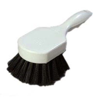 "Carlisle 4054103 8"" Utility Scrub Brush - Angled, Poly, Black"