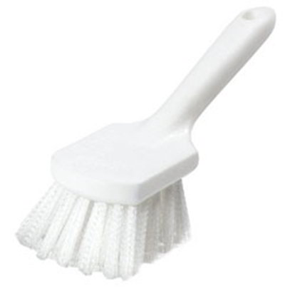 "Carlisle 4054500 8"" Utility Kitchen Brush - Angled, Poly, White"