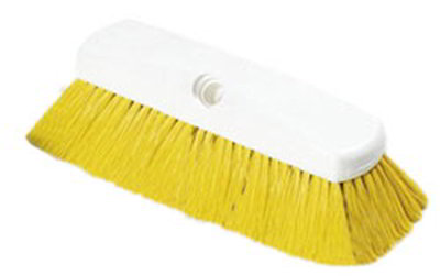 "Carlisle 4127804 10"" Flo-Thru Brush - Plastic/Nylex, Yell"