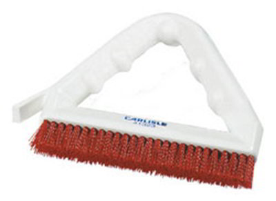 "Carlisle 4132305 9"" Tile/Grout Brush - Triangular, Pol"