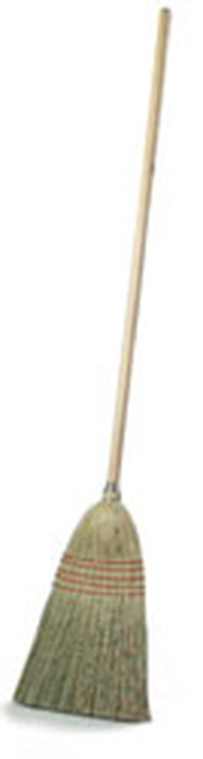"Carlisle 4135200 12"" Parlor Corn Broom - 22# Fill, 55"" Wood Handle"