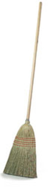 "Carlisle 4135200 12"" Parlor Corn Broom - 22# Fill, 55"" Wood Handle"