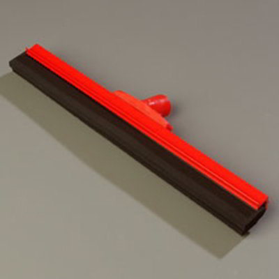 "Carlisle 4156705 18"" Hygienic Floor Squeegee Head - Double Foam, Plastic Frame, Red"