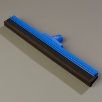 "Carlisle 4156714 18"" Hygienic Floor Squeegee Head - Double Foam, Plastic Frame, Blue"