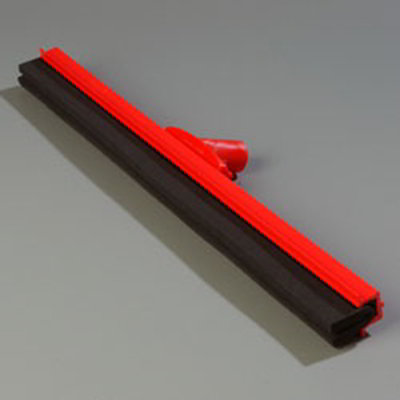 "Carlisle 4156805 24"" Hygienic Floor Squeegee Head - Double Foam, Plastic Frame, Red"