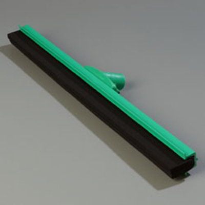 "Carlisle 4156809 24"" Hygienic Floor Squeegee Head - Double Foam, Plastic Frame, Green"
