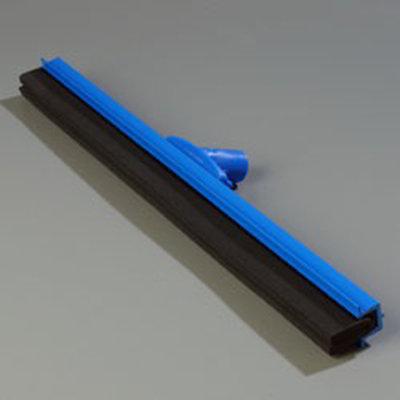 "Carlisle 4156814 24"" Hygienic Floor Squeegee Head - Double Foam, Plastic Frame, Blue"