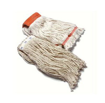 Carlisle 369816B00 Wet Mop Head - #16, 4-Ply, Cut-End, Natural Cotton Yarn