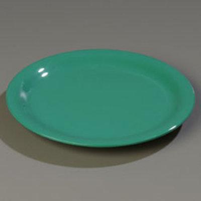 "Carlisle 4300409 9"" Durus Dinner Plate - Narrow Rim, Melamine, Meadow Green"