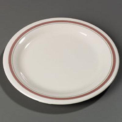 Carlisle 43009906 6.5-in Pie Plate w/ Narrow Rim, NSF, Parisian On Bone Melamine