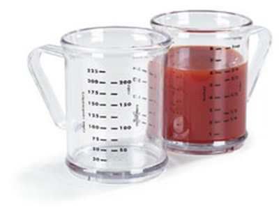 Carlisle 431507 8-oz Measuring Cup - 7-Style Handle, Clear
