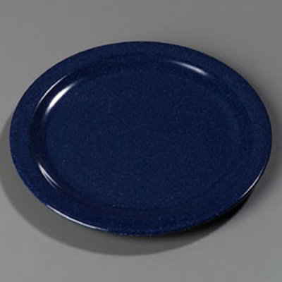 "Carlisle 4350035 10-1/4"" Dallas Ware Dinner Plate - Melamine, Cafe Blue"