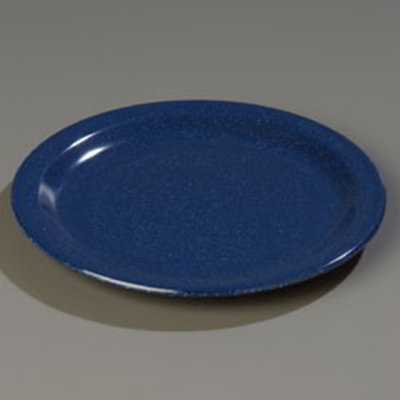 "Carlisle 4350135 9"" Dallas Ware Dinner Plate - Melamine, Cafe Blue"