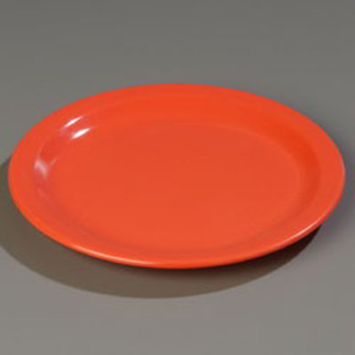 "Carlisle 4350152 9"" Dallas Ware Dinner Plate - Melamine, Sunset Orange"