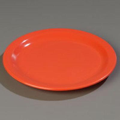 "Carlisle 4350152 9"" Dallas Ware Dinner Plate - Melamine, Sunset Orange"