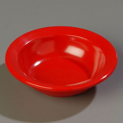 Carlisle 4353205 3-1/2-oz Dallas Ware Fruit Bowl - Melamine, Red