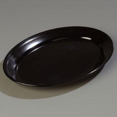 "Carlisle 4356003 Dallas Ware Oval Platter - 12x8-1/2"" Melamine, Black"