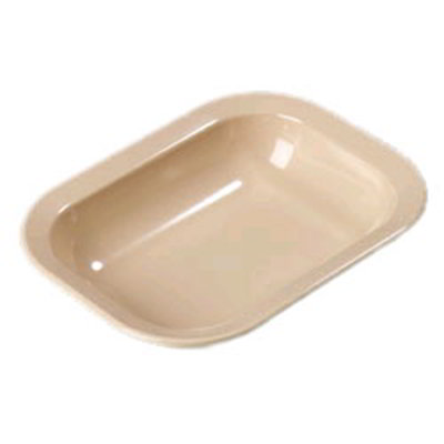 Carlisle 4374525 32.1-oz Rectangular Baker/Server Bowl - Melamine, Tan