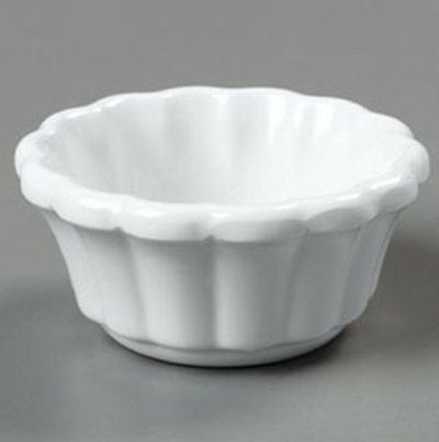 Carlisle 4394202 2-oz Scalloped Ramekin - White