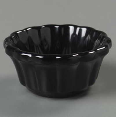 Carlisle 4394203 2-oz Scalloped Ramekin - Black