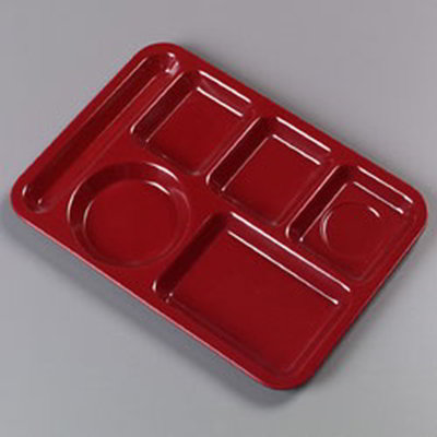 Carlisle 4398085 Rectangular (6)Compartment Tray - Le