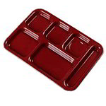 "Carlisle 4398885 (6)Compartment Tray - Right-Handed, 14-1/2x10"" Dark Cranberry"
