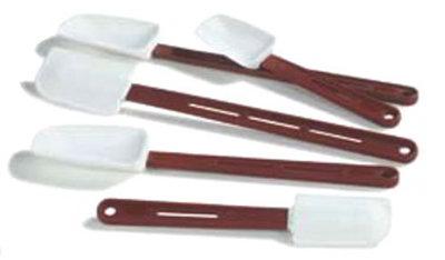 """Carlisle 4413502 13-7/8"""" Scraper - Flat Blade, Silicone, Red"""