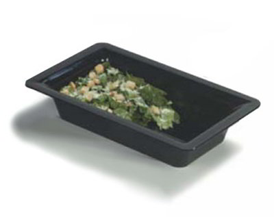 Carlisle 4442403 Full Size Food Pan, 4-in Deep, Black