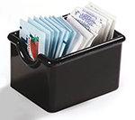 Carlisle 455003 Sugar Packet Caddy - 20-Packet Capacity, Styrene, Black