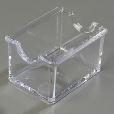Carlisle 455007 Sugar Packet Caddy - 20-Packet Capacity, Styrene,