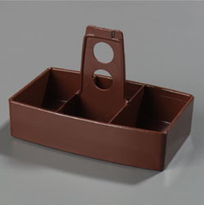 Carlisle 455128 Merchandiser Caddy - 50-Packet Capacity, Styrene, Lenox Brown