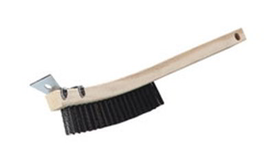 "Carlisle 4577300 14"" Scratch Brush - Carbon Steel/Wood"