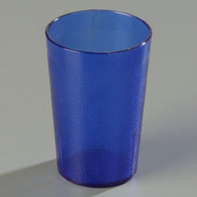 Carlisle 552647 8-oz Stackable Tumbler - SAN, Royal Blue