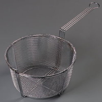 "Carlisle 601002 11-1/2"" Round Mesh Fryer Basket - Chrome-Plated N"
