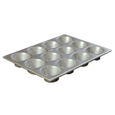Carlisle 601837 12-cup Cupcake Pan - 6-oz, Aluminized Steel