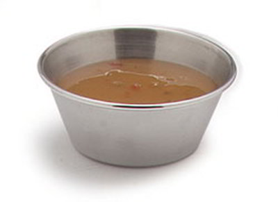 Carlisle 602500 2-1/2-oz Classic Sauce Cup - 18/8-