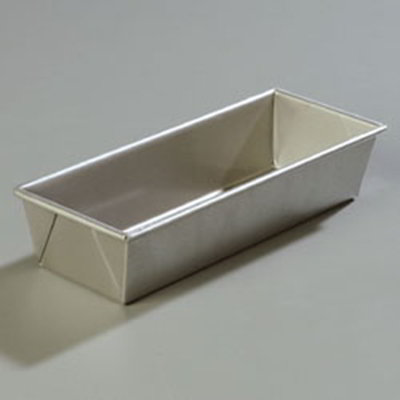 Carlisle 604174 1-1/2-lb Loaf Bread Pan - Aluminized Steel