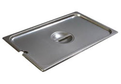 Carlisle 607000CS Steam Table Pan Cover - Full Size, Slotted, Flat, Stainless Steel