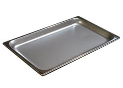 "Carlisle 607001 Full-Size Steam Table Pan - 1"" D, Stainless"