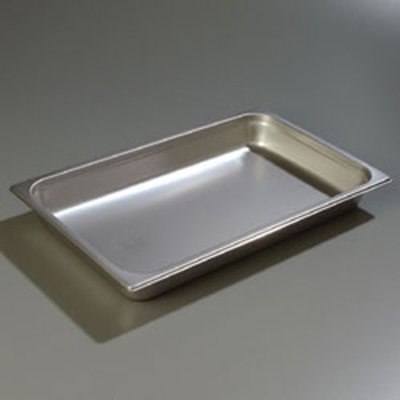 "Carlisle 607002 Full-Size Steam Table Pan - 2-1/2"" D, Stainless"