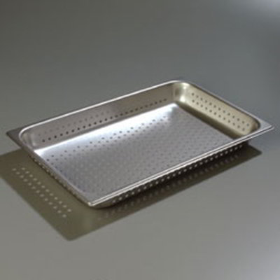 "Carlisle 607002P Full-Size Perforated Steam Table Pan - 2-1/2"" D, Stainless"