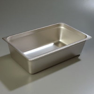 "Carlisle 607006 Full-Size Steam Table Pan - 6"" D, Stainless"