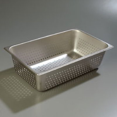 "Carlisle 607006P Full-Size Perforated Steam Table Pan - 6"" D, Stainless"
