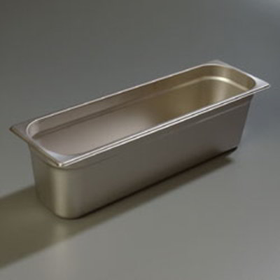 "Carlisle 60700HL6 Half-Size Long Steam Table Pan - 6"" D, Stainless"