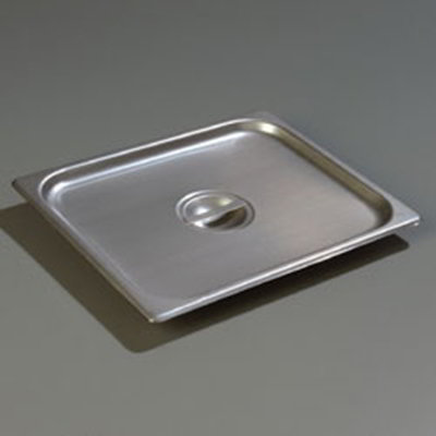 Carlisle 607120C Steam Table Pan Cover - Half-Size, Solid, Flat, Stainless