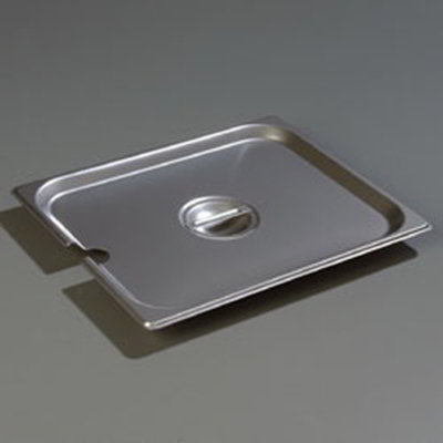 Carlisle 607120CS Steam Table Pan Cover - Half-Size, Slotted, Flat, Stainless
