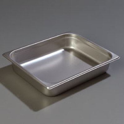 "Carlisle 607122 Half-Size Steam Table Pan - 2-1/2"" D, Stainless"