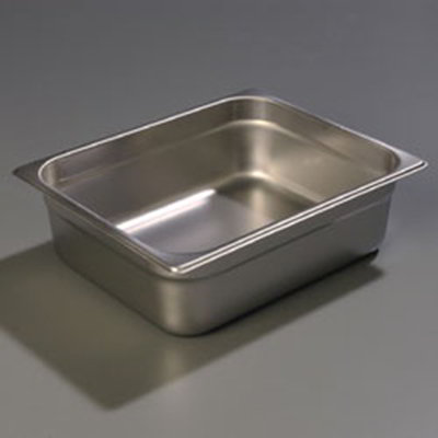 "Carlisle 607124 Half-Size Steam Table Pan - 4"" D, Stainless"