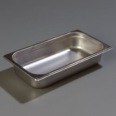 "Carlisle 607132 1/3 Size Steam Table Pan - 2-1/2"" D, Stainless"