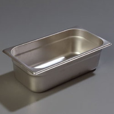 "Carlisle 607134 1/3 Size Steam Table Pan - 4"" D, Stainless"